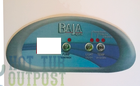Baja Spa Control Panel Overlay 3 Button Crescent
