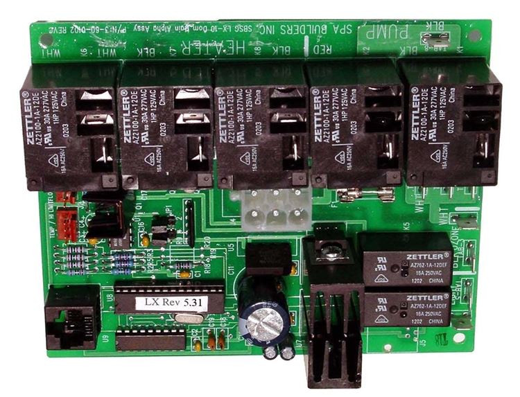 Spa builders lx 10 alpha rev circuit board 9920 200973 for Spa builders