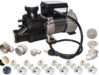 Complete Whirlpool Bathtub Retrofit Kit 3/4HP Pump Jets Hose Union ...