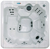 Dream Weaver spa with lounger in silver marble.