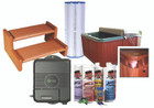 Spa value pack including filter, steps, chemicals and more.