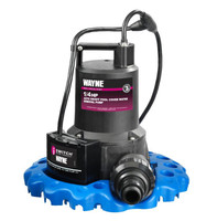 Submersible pump for draining hot tubs