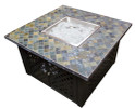 Lattice square propane fire pit