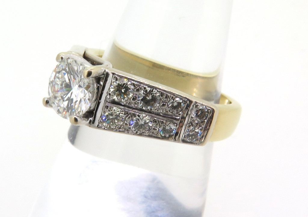 18CT YELLOW GOLD 1.99 TCW DIAMOND RING G-H COLOUR - VALUATION $19570