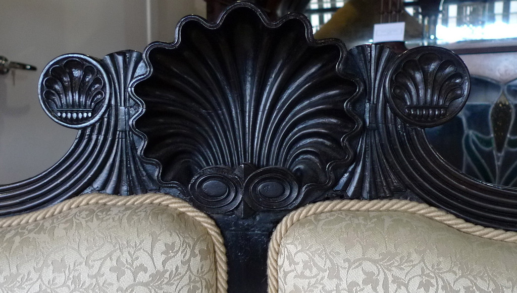 A FINE ANGLO INDIAN SOLID EBONY COUCH C.1835