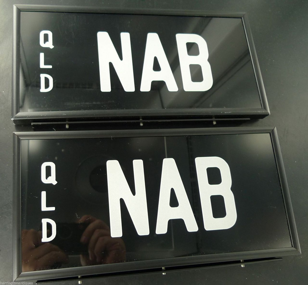 """RARE """"NAB"""" QUEENSLAND NUMBER PLATES - NAB BANK"""