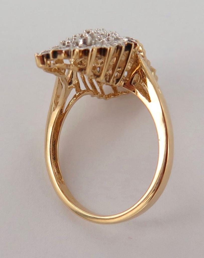 DAZZLING / EXTRAVAGANT 9CT YELLOW GOLD & 57 DIAMOND DRESS RING VAL $2500