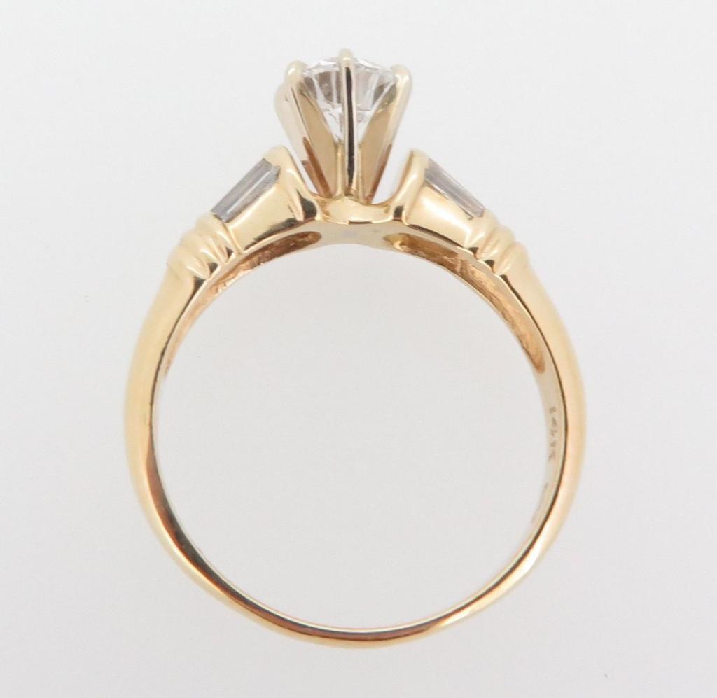 0.88ct Diamond G SI 14k Yellow Gold Solitare Dress Ring Val $6290