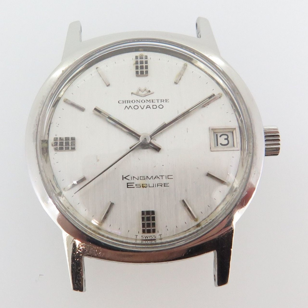 Vintage Movado Chronometer Kingmatic Esquire Sub Sea 28j steel mens watch