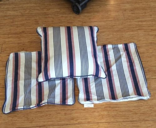 SET OF THREE MATCHING CUSHION COVERS, IN THE STYLE OF RALPH LAUREN HARRINGTON & CO BRISBANE WOOLLOONGABBA  HOME DECOR