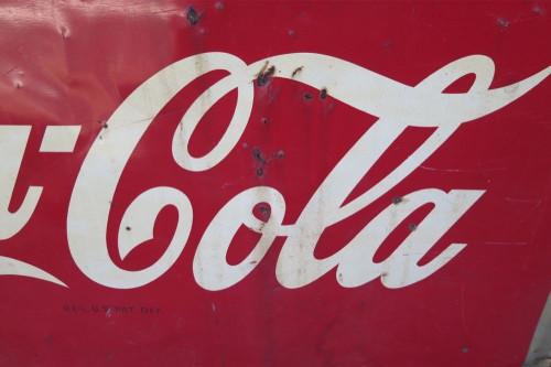 c1940's / 50's AMERICAN COCA COLA LARGE TIN SIGN