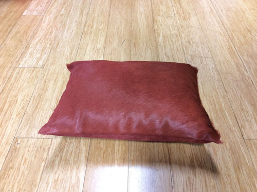 DECORATIVE RED CUSHION BY LATIN AMERICAN DESIGN-HOUSE CUEROS LATINOS