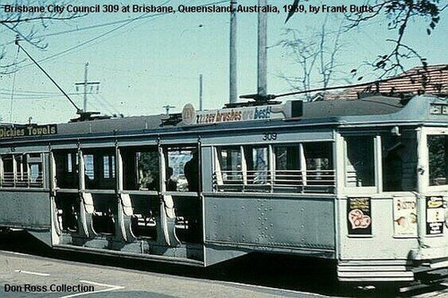 SUPER RARE 1950'S BRISBANE TRAM ADVERTISING BOARD, 4BC WITH PHOTOGRAPHIC PROOF!