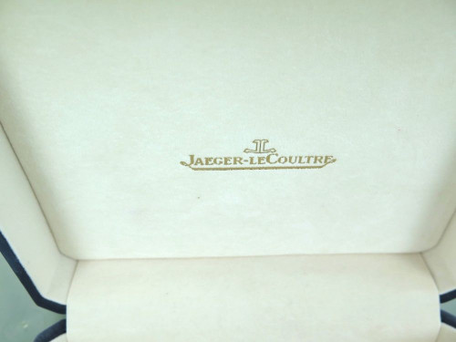 VINTAGE / COLLECTABLE JAEGER LeCOULTRE NAVY BLUE LEATHER DISPLAY BOX.