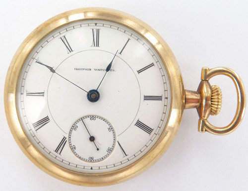 1886 VERY RARE JOSEPH JERGER / ILLINOIS WATCH CO 18S 11J P/WATCH ONLY 2450 MADE
