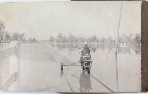 SUPER RARE c1920 GOONDIWINDI FLOODS REAL PHOTO POSTCARD. #
