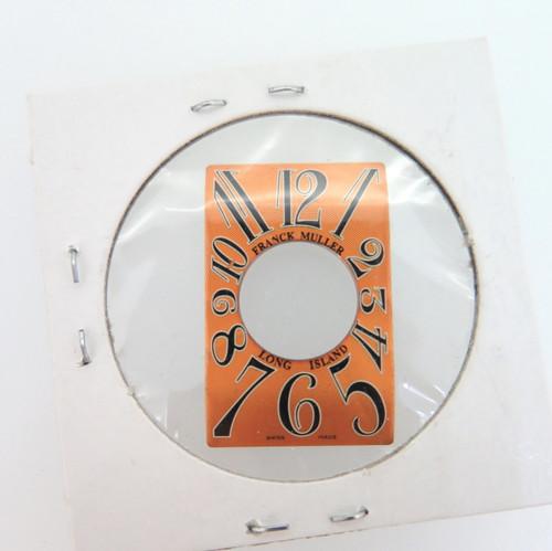Franck Muller Long Island orange dial, new old stock 19mm X 30mm