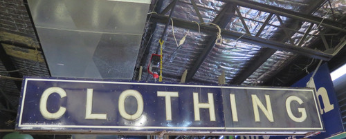 ANTIQUE SIGN DEALER BRISBANE 1920s FEDERAL ELECTRIC COMPANY 3.76M CLOTHING DOUBLE SIDED INDUSTRIAL SIGN AUSTRALIA