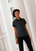 Ladies Short Sleeve Classic Twill Shirt Russell Collection 917F