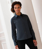 Ladies Long Sleeve Classic Twill Shirt Russell Collection 916F