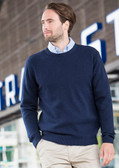 Henbury Lambswool Crew Neck Sweater - H735