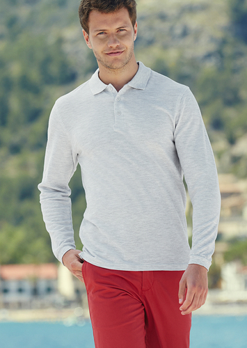 Fruit of the Loom Long Sleeve Polo Shirt SS24