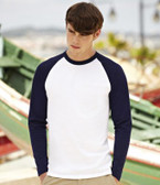 Fruit of the Loom Contrast Long Sleeve Baseball T-Shirt SS32