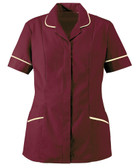 Ladies Tunic Burgundy / Cream