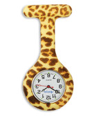 Leopard Print Fob Watch