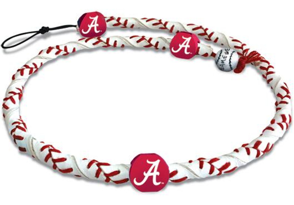 Alabama Crimson Tide A Logo Classic Frozen Rope Baseball Necklace