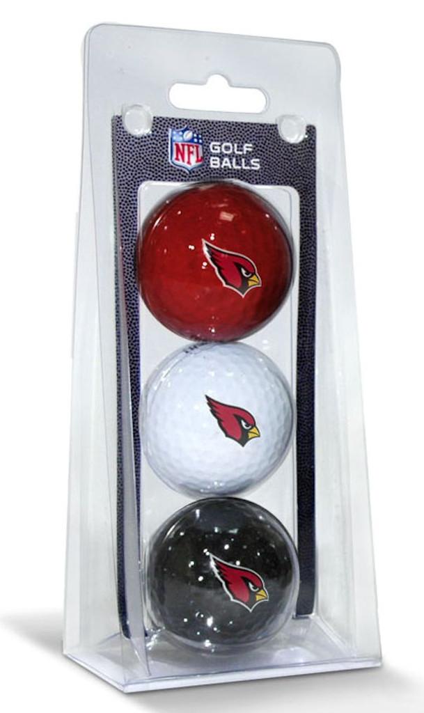 Arizona Cardinals 3 Pack of Golf Balls