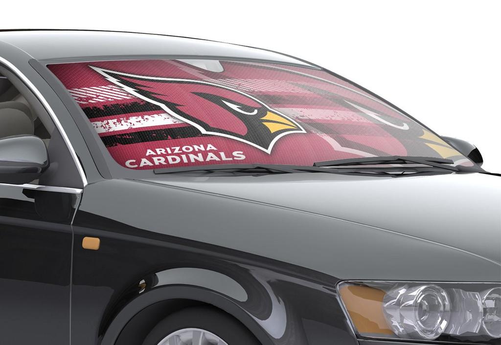 arizona cardinals auto sun shade 59 x27 caseys distributing. Black Bedroom Furniture Sets. Home Design Ideas