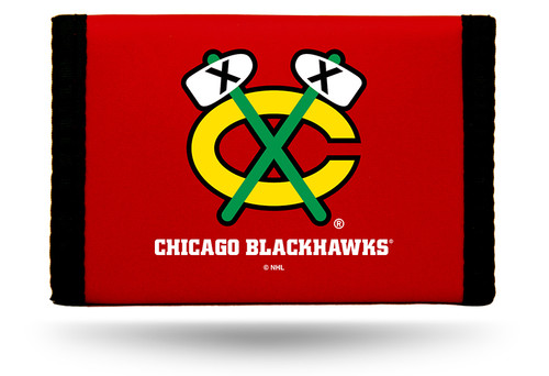 Chicago Blackhawks Nylon Trifold Wallet