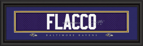 "Baltimore Ravens Joe Flacco Print - Signature 8""x24"""