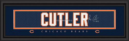 "Chicago Bears Jay Cutler Print - Signature 8""x24"""