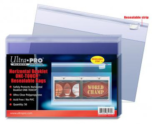 One Touch Resealable Bag - Booklet Horizontal - (100 per pack)