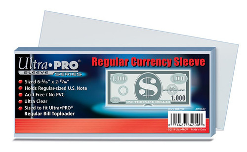 Ultra Pro Currency Sleeve - 100pk
