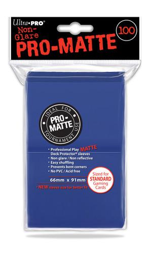 Deck Protectors - Pro-Matte Blue (100 per pack)