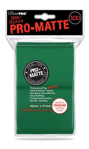 Deck Protectors - Pro-Matte Green (100 per pack)