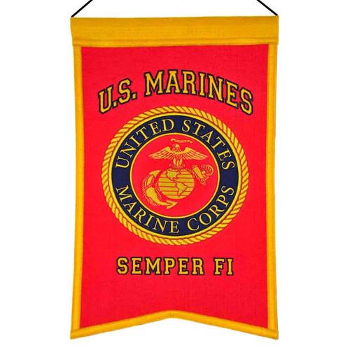 US Marines Banner Wool