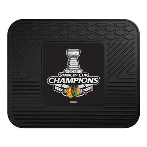 Chicago Blackhawks Car Mat Heavy Duty Vinyl Rear Seat - 2015 Stanley Cup Champions