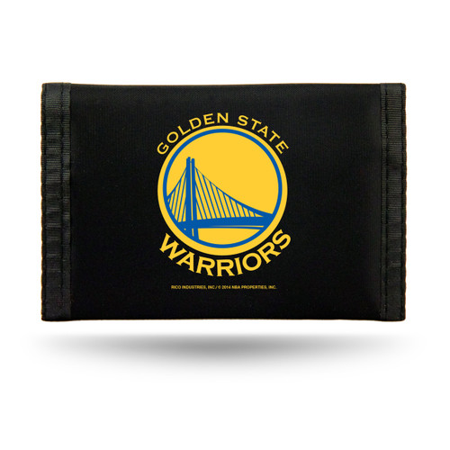 Golden State Warriors Nylon Trifold Wallet