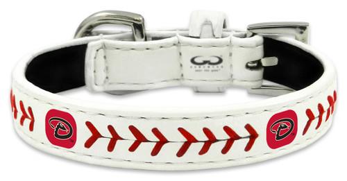 Arizona Diamondbacks Classic Leather Toy Baseball Collar
