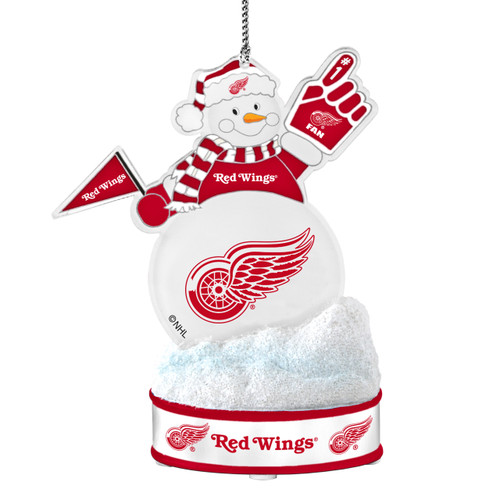 Detroit Red Wings Ornament - LED Snowman