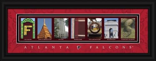 Atlanta Falcons Letter Art Print