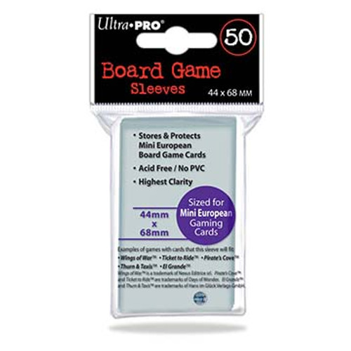 Ultra Pro Board Game (European Standard) Sleeve - 44mmx68mm - 50pk