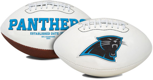 Carolina Panthers Football Full Size Embroidered Signature Series