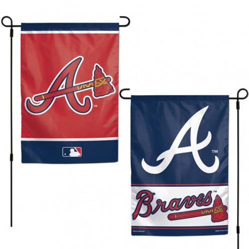 Atlanta Braves Flag 12x18 Garden Style 2 Sided