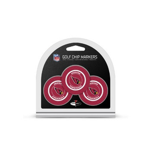 Arizona Cardinals Golf Chip with Marker 3 Pack