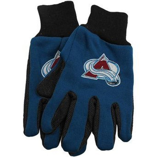 Colorado Avalanche Gloves Two Tone Style Adult Size